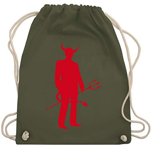 Halloween - Teufel - Unisize - Olivgrün - WM110 - Turnbeutel & Gym Bag