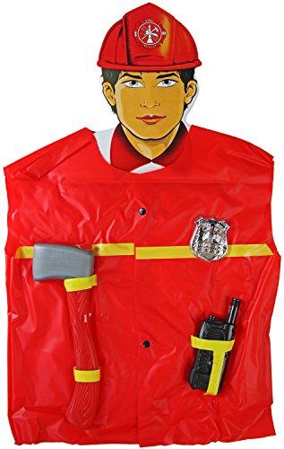 Kinder-Kostüm Feuerwehr-mann Kostüm 4-tlg Feuerwehr-Kostüm inkl. Ausrüstung Feuerwehr-Uniform Hose Jacke Fasching-Kostüm ()