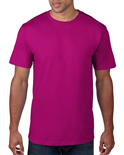anvil Herren Organic Fashion Basic T-Shirt / 490 XXL,Rot - Raspberry