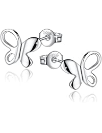 Fashmond- Boucles d'oreilles Clous papillon- Argent fin 925- Idée Cadeau Anniversaire