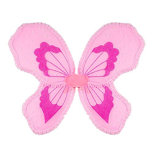 GLXQIJ 3 Teile/Satz Mädchen Glitter Fairy Schmetterling Flügel Kinder Dress-Up, Halloween Flügel Kostüm Party Cosplay - Feuer Flügel Kostüm