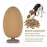 PETKIT Hunde Spielzeug Futterball, Interaktive IQ Treat Ball Robust für Haustier, Langsam Leckerli-Spender Kauspielzeug aus Naturkautschuk, M