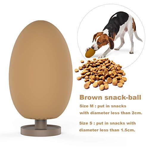 PETKIT Hunde Spielzeug Futterball, Interaktive IQ Treat Ball Robust für Haustier, Langsam Leckerli-Spender Kauspielzeug aus Naturkautschuk, S -