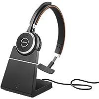 Jabra Evolve 65 MS Mono Wireless-Bluetooth-Headset für PC/Smartphone/Tablet, telefonieren und Musik hören, Skype for Business zertifiziert, inkl. Ladestation