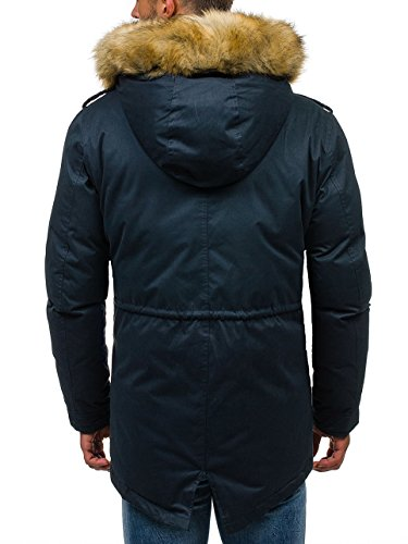 BOLF Herren Winterjacke mit Kapuze Alaska Futter J.BOYZ 1016 Dunkelblau M [4D4] - 4