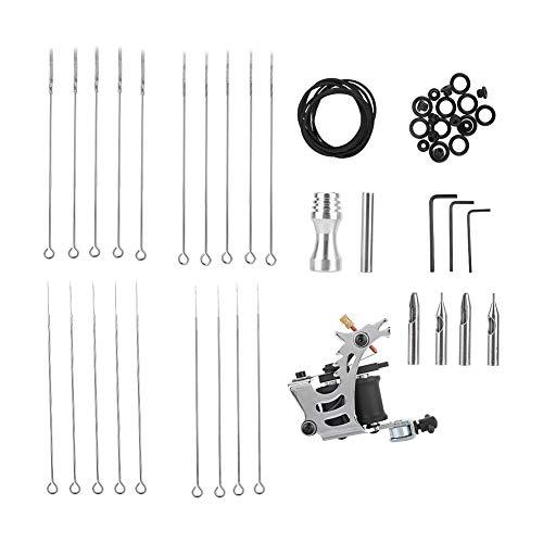 Anfänger-Tattoo-Komplett-Tool-Kit mit Liner-Shader-Nadeln und Tattoo-Zubehör 20 Ext-kabel
