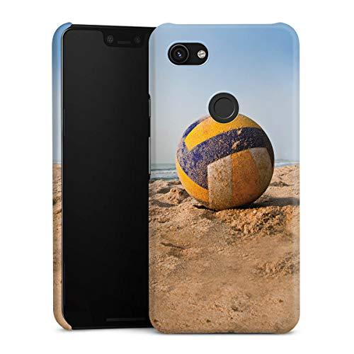 DeinDesign Premium Case kompatibel mit Google Pixel 3a XL Hülle Handyhülle Volleyball Sand Hobby