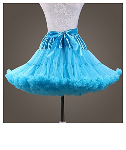Cystyle Damen Kurz Petticoat Tüll Ballett Tanzrock Tutu Ball Kleid Mehrfarbengroß Unterröcke (Stil 5)