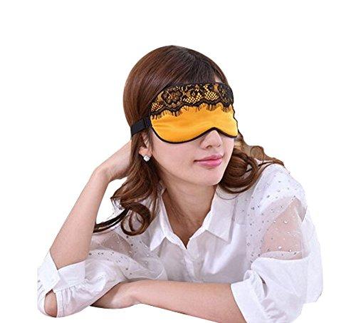 Mou Soie cache oeil/cache oeil pour dormir, Lace/Orange
