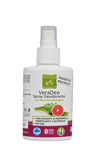 VeraDeo - Spray Deodorante Bio con Aloe Vera Biologica - 100 ml