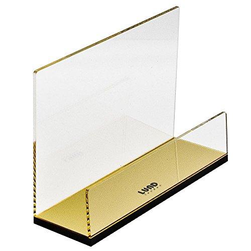 Briefständer mit goldenem Boden, aus transparentem Acryl