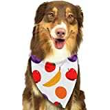 dfegyfr Fruit Pattern Pet Dog Cat Puppy Bandana Triangle Head Scarfs Accessories