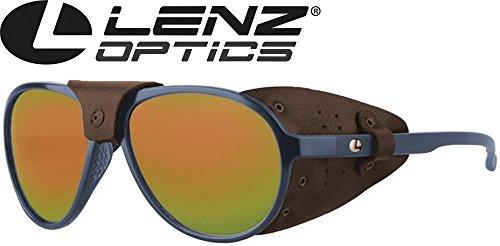 Lenz Optics Spotter Discover Sunglasses Dark Blue - Polarisationsbrille, Sonnenbrille zum Angeln, Polbrille zum Fliegenfischen