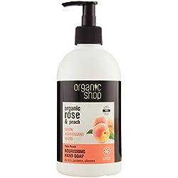 Organic Shop Sapone Liquido Mani Nutriente Rose & Peach - 500 ml