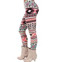 Pantalones leggins de las mujeres, RETUROM Moda cómoda mujeres elasticidad Skinny Tribal impreso elástico pantalones polainas Dama