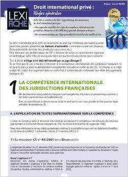 Droit international privé : Règles générales de Stéphane-Laurent Texier ( 26 septembre 2014 )