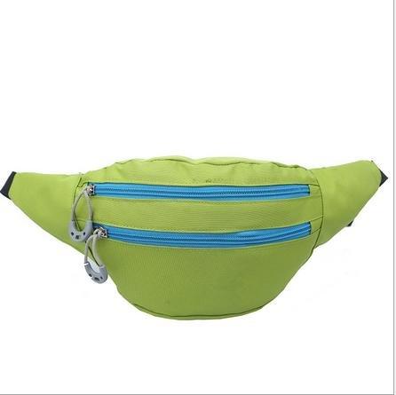&zhou Kleine Taschen Multifunktions-Freizeit für Verwendung im freien Männer und Frauen kombiniert Geldbörsen Bewegung Schulter Umhängetasche Green
