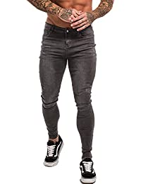 GINGTTO Men's Skinny Stretch Ripped Denim Jeans Slim Fit