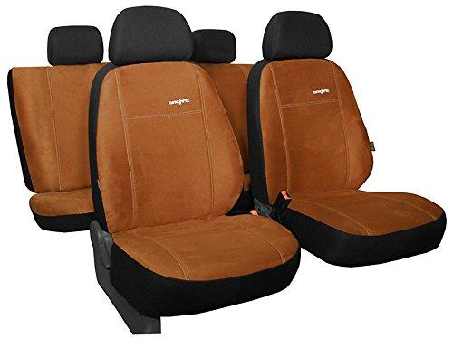 POKTER-ALC Für KIA Rio 2011-2014 PKW-Sitzbezüge Comfort in ALKANTRA-Sitzfläche (Rio Sitzbezüge Auto Kia)