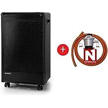 ElectrodomesticosN1 Pack Estufa Orbegozo de Butano H 55 Catalitica,3000W, Negro + Regulador de