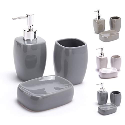 Msv accessori bagno gris
