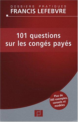 101 questions sur les congés payés