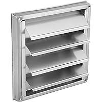 Ventilación - Ventilador de pared de acero inoxidable de 100 mm, extractor de secadora cuadrada, salida de ventilador