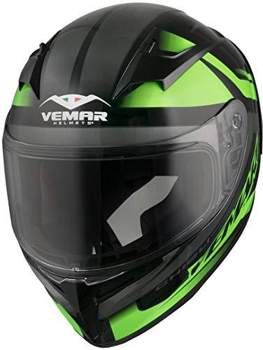 Vemar Ghibli base integrale casco moto, colore: Nero/Verde