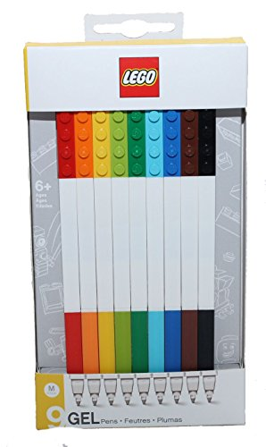 Penna a Gel 9 Pezzi Colori Assortiti Lego