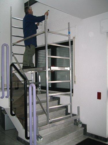 Baugerüst: Rollfix 300, Arbeitshöhe 3 m neu, inkl. Rollen und Fahrtraverse, TÜV-geprüft