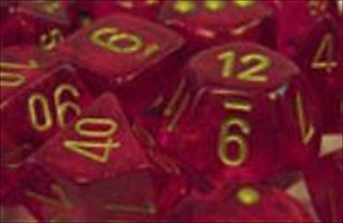 chessex-manufacturing-27424-borealis-magenta-with-gold-numbering-dice-set-of-7-by-chessex-manufactur