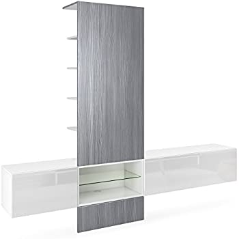 Vladon Wall Unit Tv Stand Manhattan V2 Carcass In White