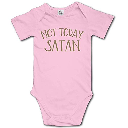 TRUIOKO Baby Bodysuit,Not Today Satan Retro Newborn Babys 0-24 Months