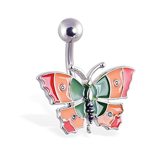 Colorful Butterfly Bauch Ring (Bauch Butterfly Ring)