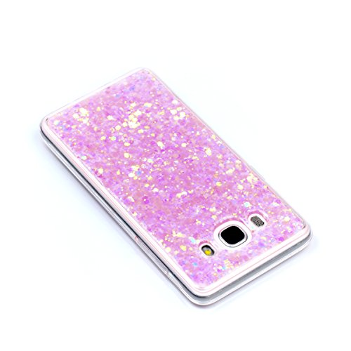 Coque Samsung Galaxy J5 2016 Glitter, Samsung Galaxy J5 2016 Coque Brillante, SainCat Ultra Slim TPU Silicone Case pour Samsung Galaxy J5 2016, Glitter Bling Diamante Strass Anti-Scratch Soft Gel 3D H Rose