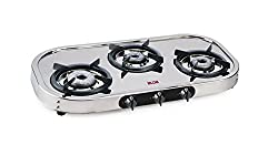 Glen Alda Kitchen CTA 137 HF Ai SSAL Stainless steel Fuel efficient brass burners Auto ignition Gas Stove