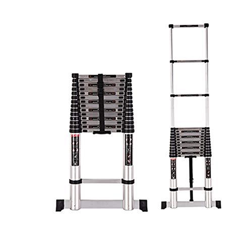 Teleskopleiter Teleskopleiter - Aluminium DIY Trittleiter Faltbare ausziehbare einzelne gerade Vielzweckleiter 9 Größen (Size : 5.2m(17ft)) -