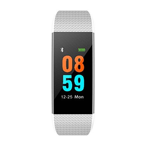 nd-Farben-Schirm IP68 wasserdicht Herzfrequenz-Blutdruck-Sauerstoff-Fitness Tracker-Armband-Armband ()