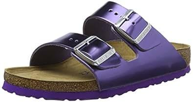 Birkenstock Arizona, Ciabatte Donna, Viola (Metallic Violet), 35 EU