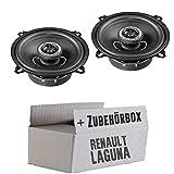 Renault Laguna 2 - Lautsprecher Boxen Helix Match MS5X 13cm Koaxsystem Auto Einbauzubehör - Einbauset