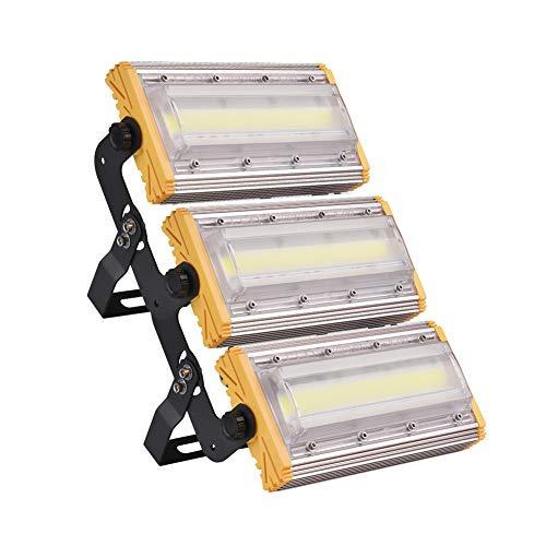 150W LED Foco Proyector, LED Reflectores para exteriores, Super brillante luz de trabajo, IP65 Impermeable, 80Lm / w, 6500K blanco frío, Reflector de seguridad exteriores para garaje, césped y jardín