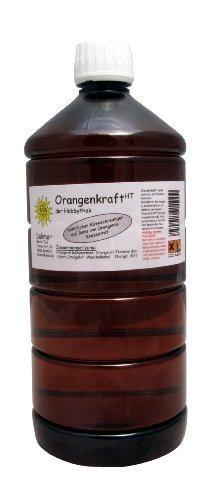 ORANGENKRAFT HT Allzweckreiniger nach Originalrezeptur der Hobbythek, Orangenreiniger, Kraftreiniger Konzentrat 1,0 Liter PET Flasche