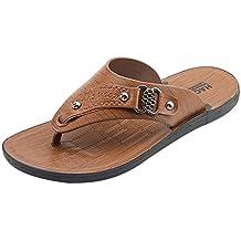 Zapatos Hombre Casuales, Lanskirt Hombres Chanclas de Color sólido Romanas Zapatillas de Playa sin Cordones