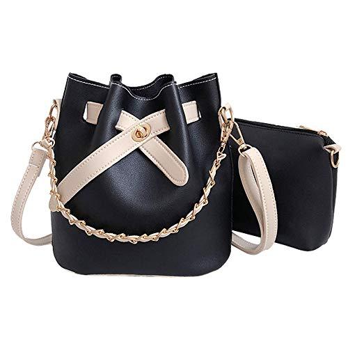 Ears Kleine Tasche Frauen Leder einfarbig Umhängetasche Schultertasche Bucket Bag + Clutch Bag Messenger-Bags Diagonale Tasche Vintage Tasche Elegant Handtasche Damen Clutch Mini-Tasche