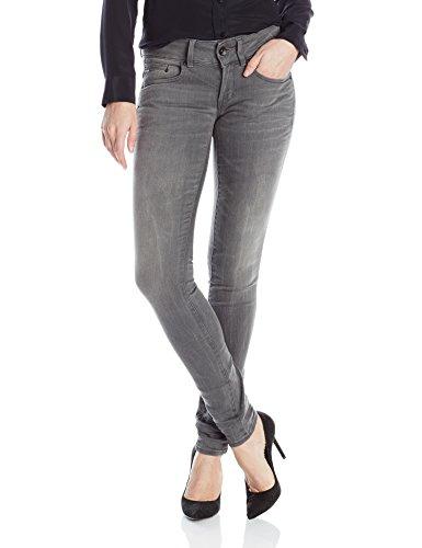 g star midge cody skinny G-Star Raw Damen Skinny Jeans Midge Cody Mid Skinny Slander Flint Super Stretch, Grau (Medium Aged 6132.071), Gr. W28/L30