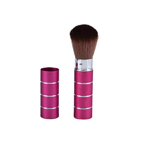 Generic A: Women' s Fashion Retractable Metal Brush Cosmetic Makeup Brushes Powder Foundation Blusher Brush Tool #Y