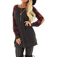 Hanomes Damen pullover, Frauen O-Neck Gitter Casual Long Top T-Shirt Mode Langarm Top Bluse preisvergleich bei billige-tabletten.eu