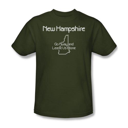 New Hampshire-Maglietta da uomo, colore: verde militare Verde militare