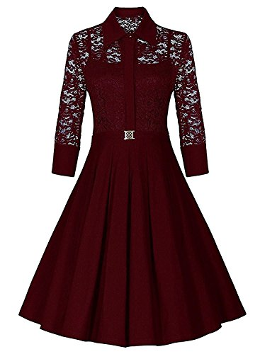 Karm Enterprise Short dress for women western wear (Free Size Maroon)