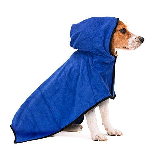 Haustier Bademantel, schnell trocken Haustier Bad Handtuch, schnell absorbierende Wasser Bademantel für Hund und Katze (M)